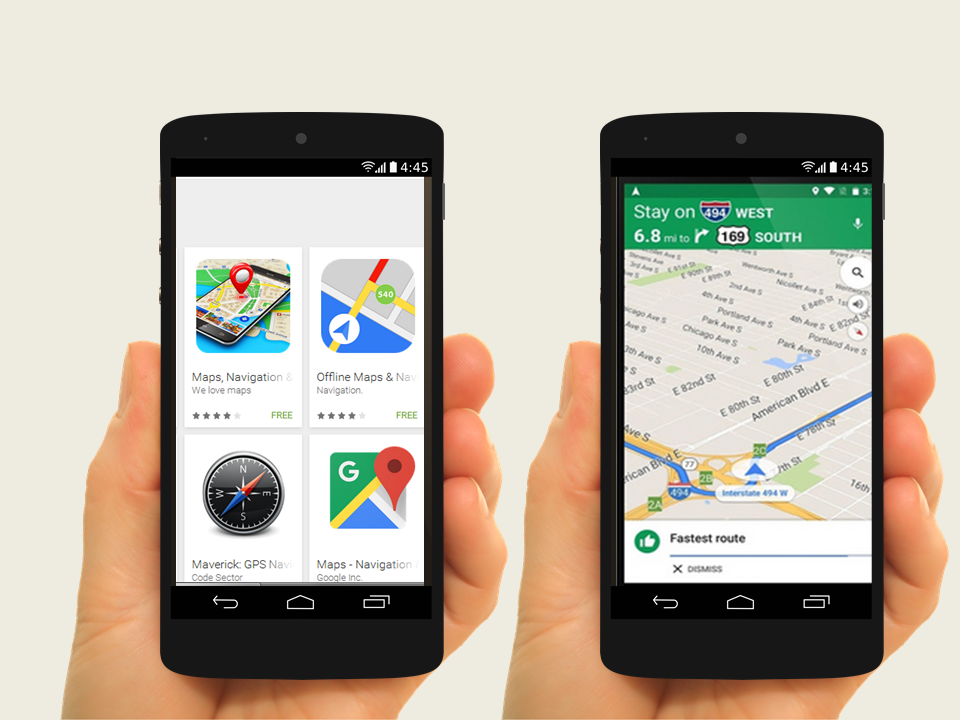 Google Maps from Play Store