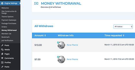 Money Widthdrawal