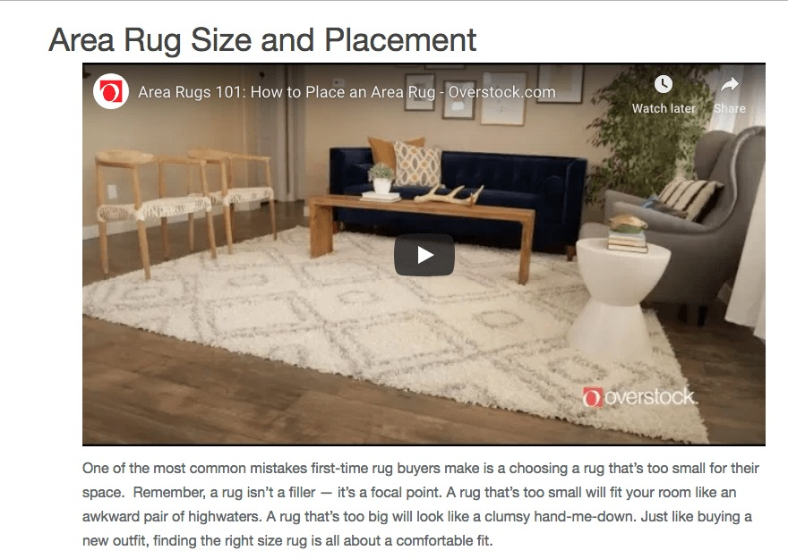 A rug buying guide from Overstock.