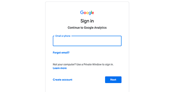 Sign in with your Google account
