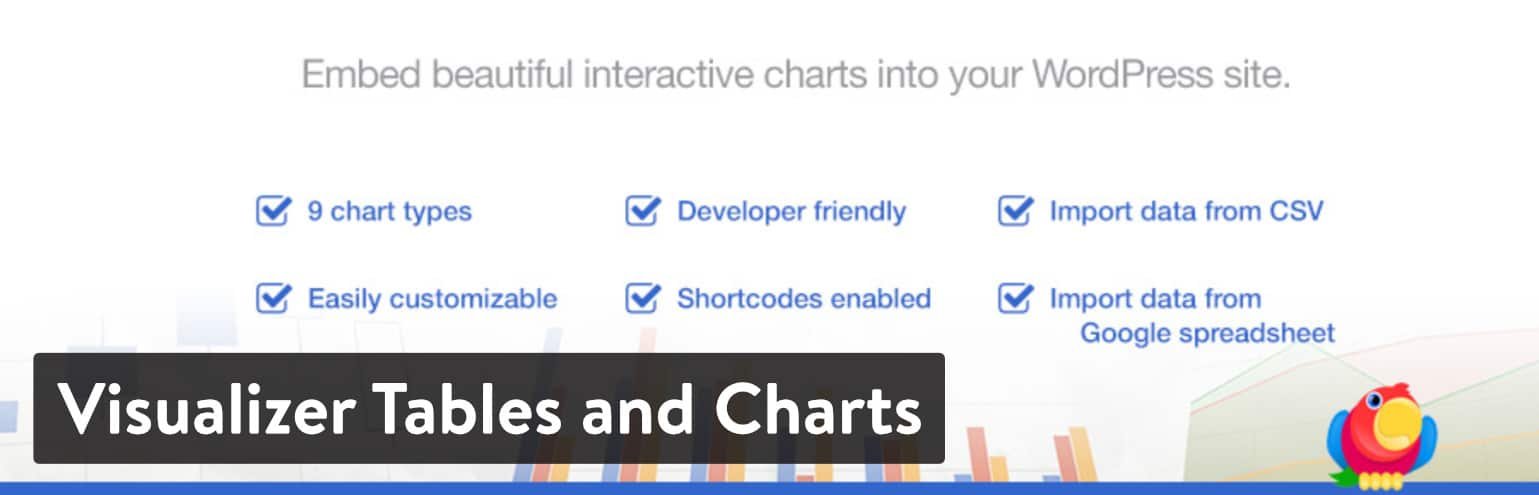 Visualizer Tables and Charts WordPress plugin