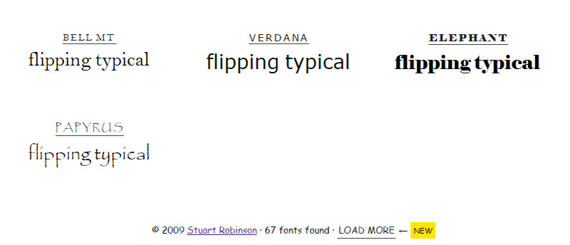 flipping typical fonts