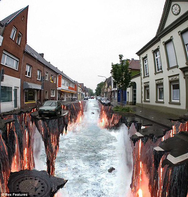 Hot river 3d art