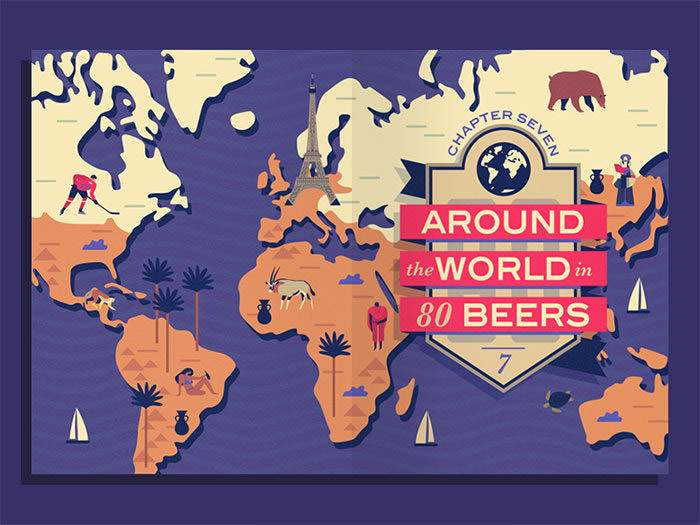 Beer For All Seasons world map