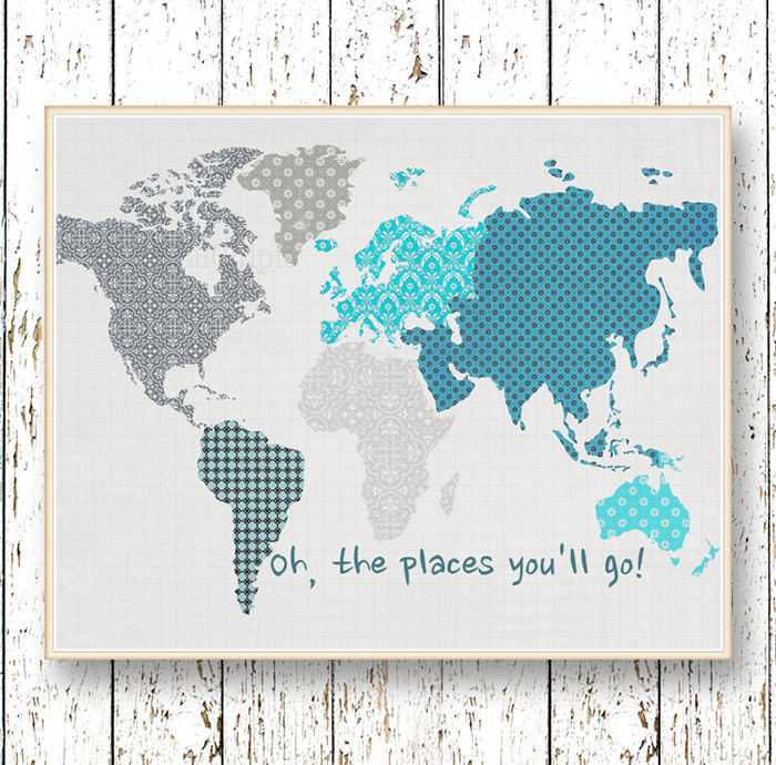 The Places You'll Go world map