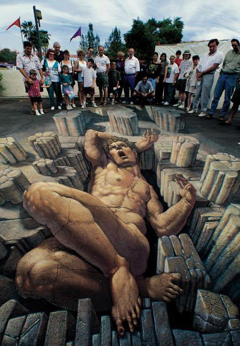 Relaxing giant 3d art