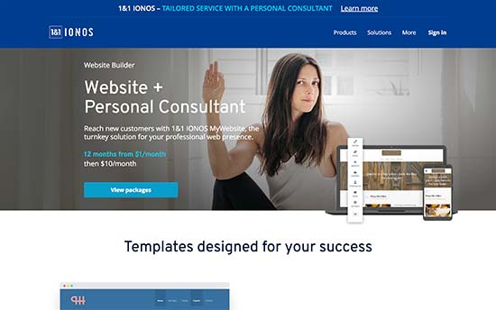 1&1 IONOS Website Builder