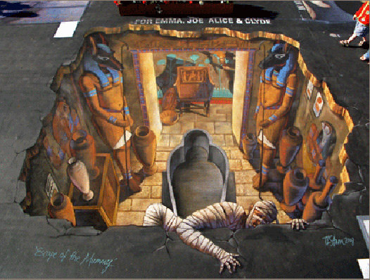 Escape of the mummy 3d art