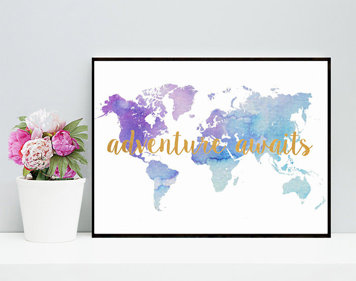 Soft Colors world map