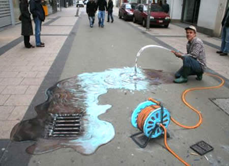 Waste of water 3d art