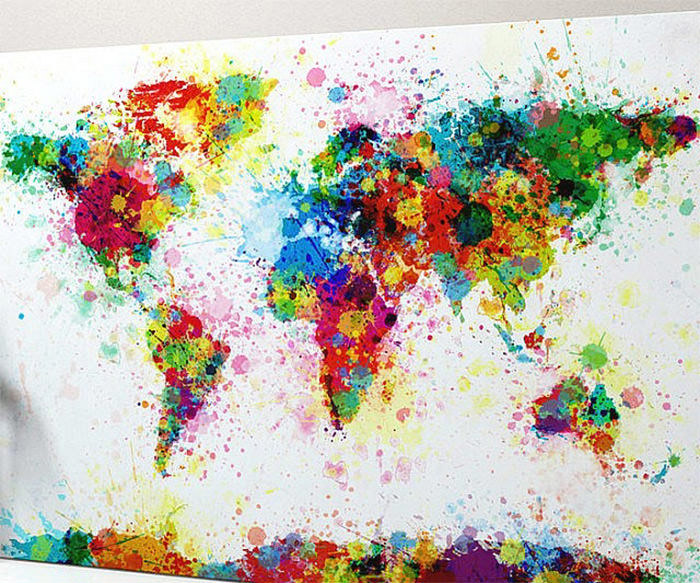 Paint Splatter world map