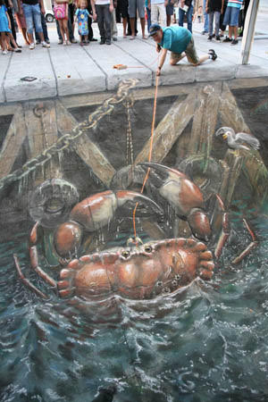 Crab Catching 3d art