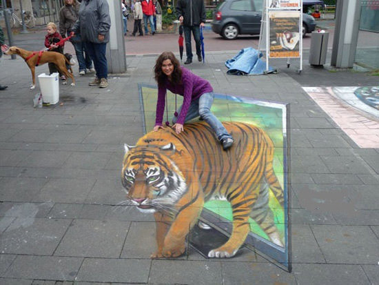 TV Tiger 3d art