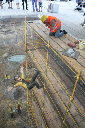 Accident Building site 3d art
