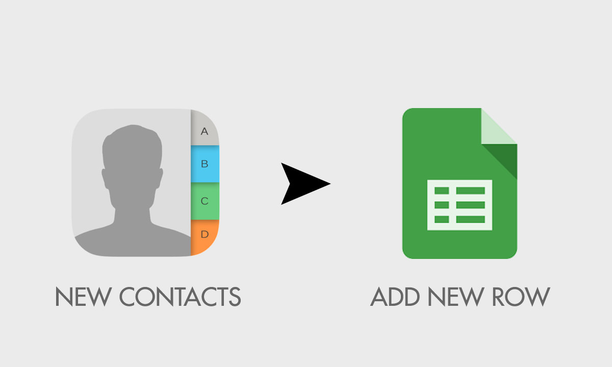 add new contacts to spreadsheet