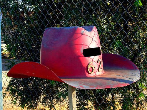 Cowboy Hat Mailbox