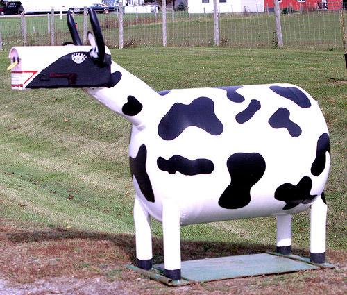 Cute Cow Mailbox