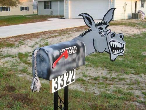 Donkey mailbox