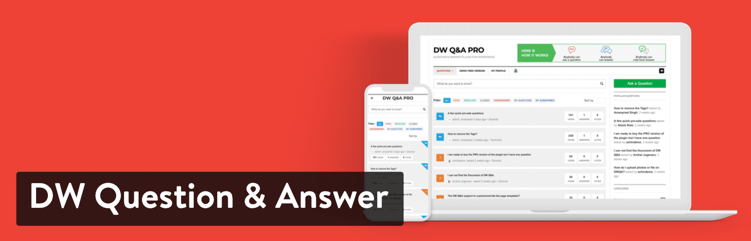 DW Question & Answer plugin