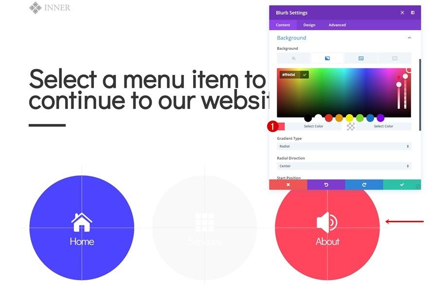 icon navigation page
