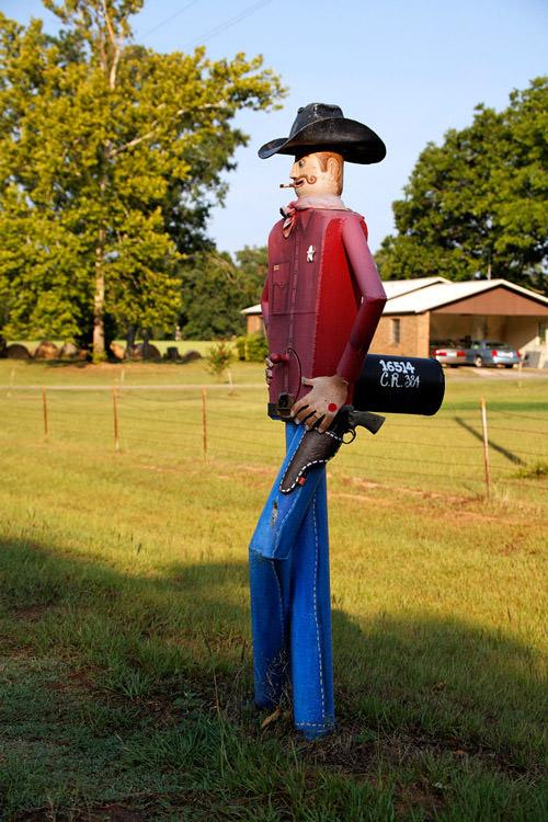 Funny Cowboy mailbox