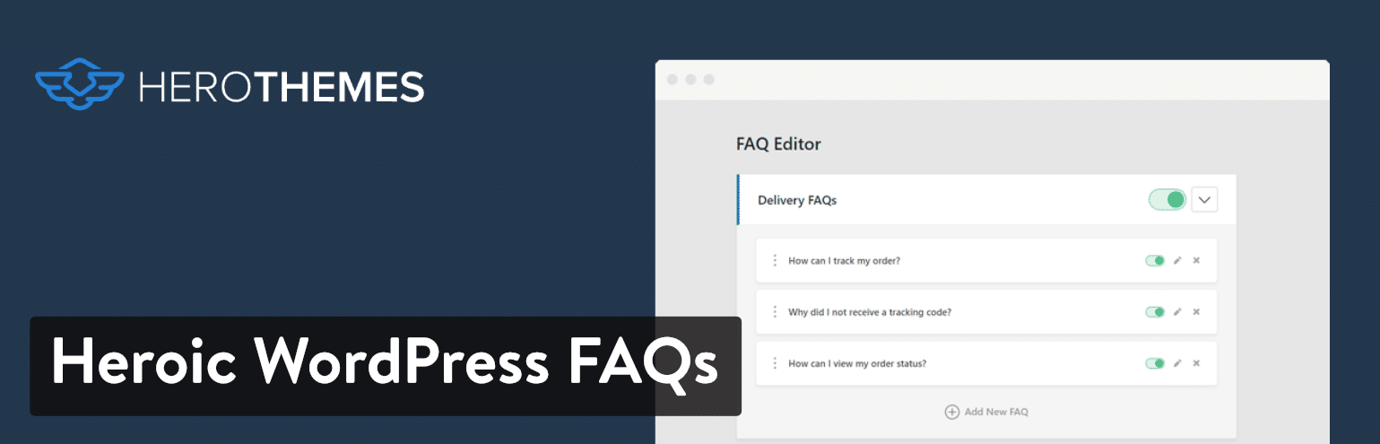 Heroic WordPress FAQs plugin