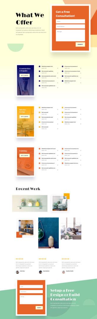home improvement layout