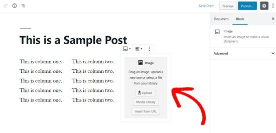 Image Block Added to WordPress