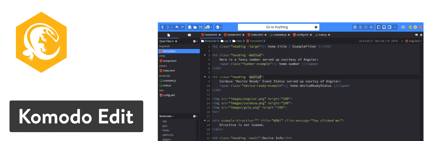 Komodo Editor text editor