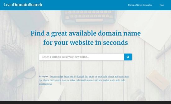 Lean Domain Search - Blog Domain Name Generator