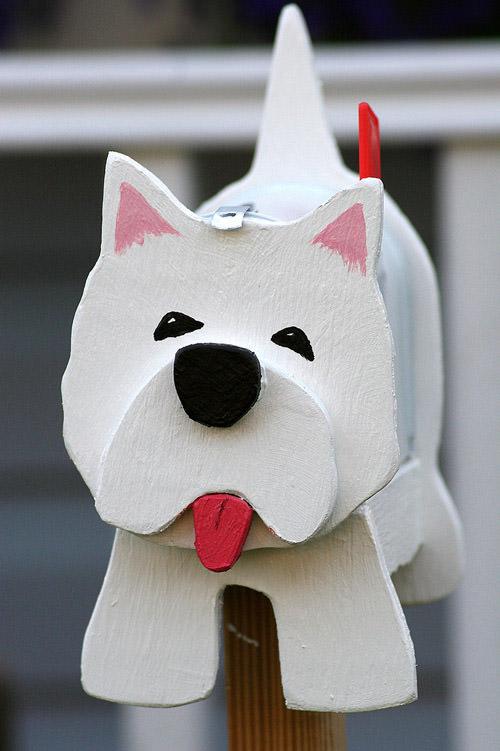 Handmade mailbox for playhouse