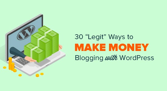 "30 ""Proven"" Ways to Make Money Online Blogging with WordPress"
