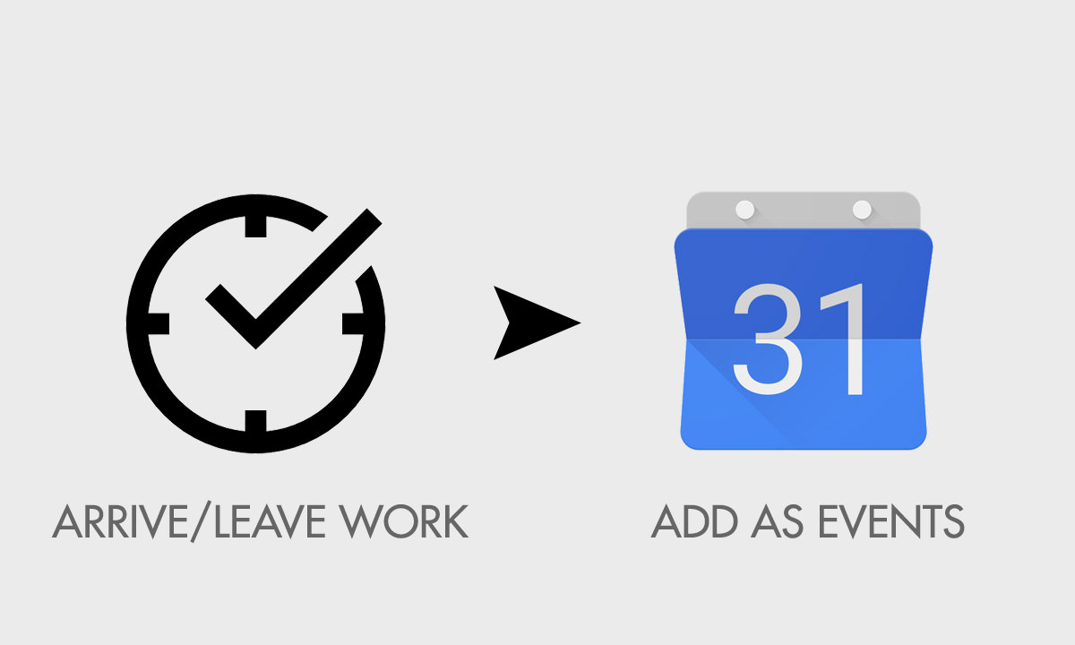 keep track working time in google cal