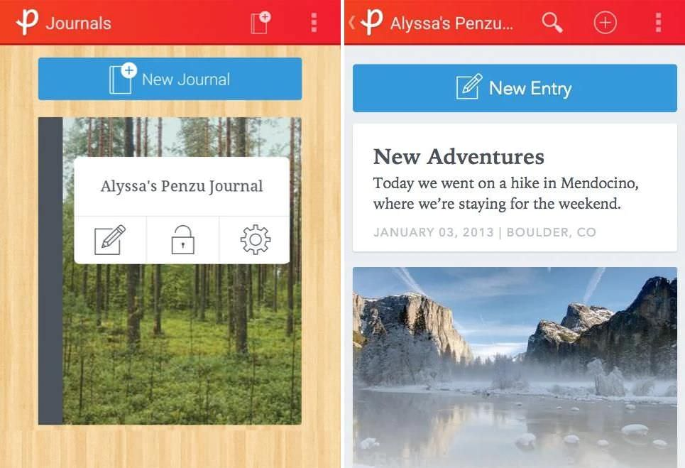 Penzu is a general-use journal app