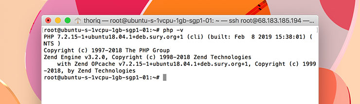 php and ubuntu