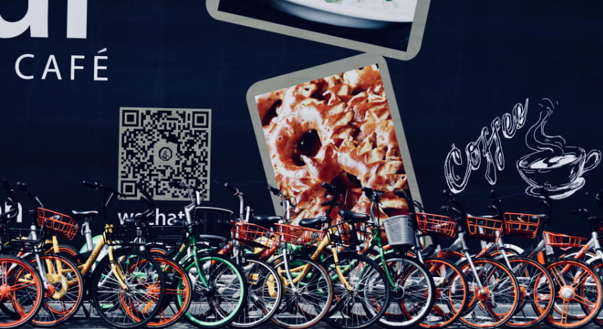 Promoting cafe with QR code