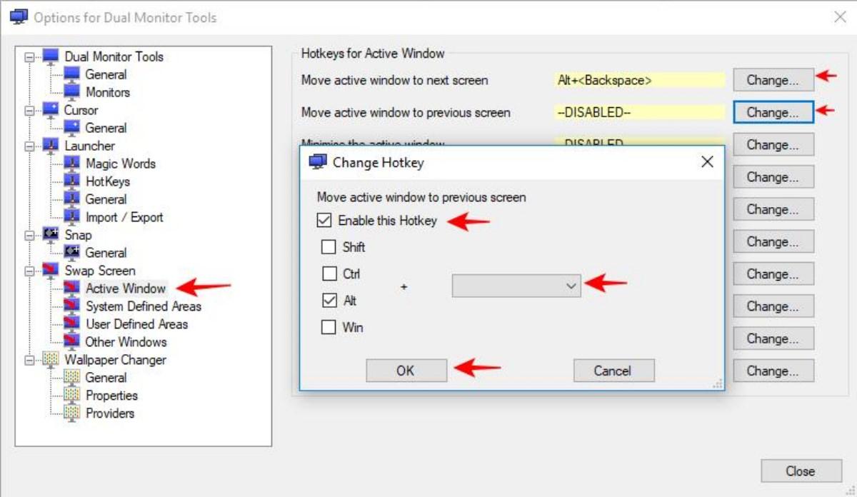 Settings of Dual Monitor Tools