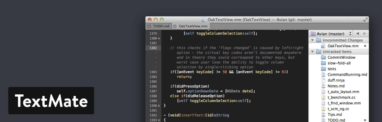 TextMate text editor