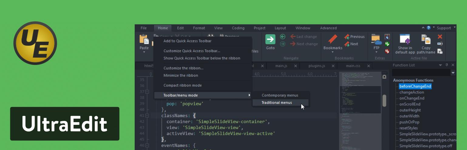 UltraEdit text editor