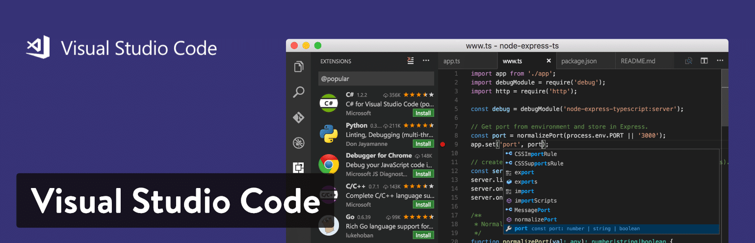 Visual Studio Code text editor