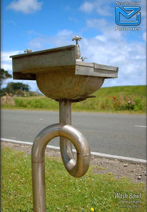 Wash Bowl Mailbox