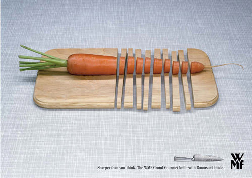 WMF knives - Cutting board ad