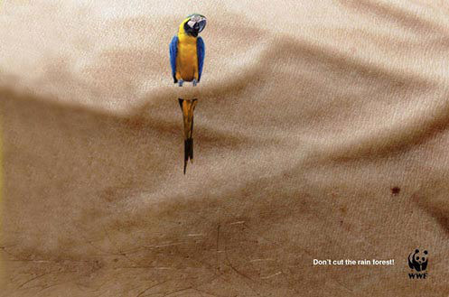 WWF- Don't cut the rain forest ad