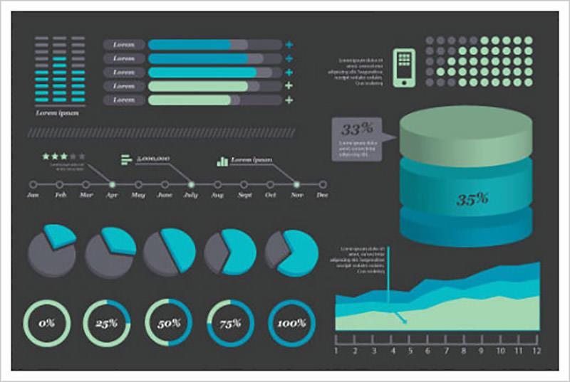 Dark Highlight Infographic Design Kits