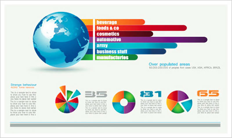 Chart & Infographics Design Elements Vector 05