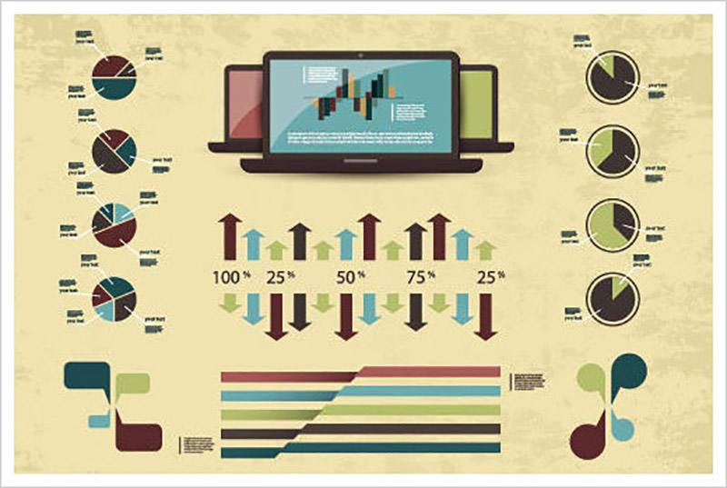 Retro infographic Elements