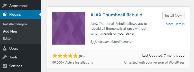 The AJAX Thumbnail Rebuild plugin.