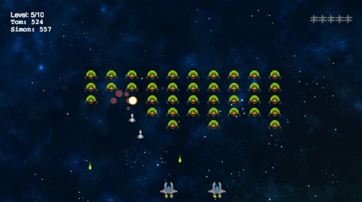 Alien Invaders is a castable multiplayer game