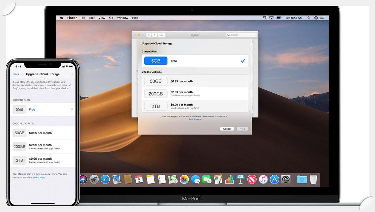 Apple iCloud is a shareable cloud storage
