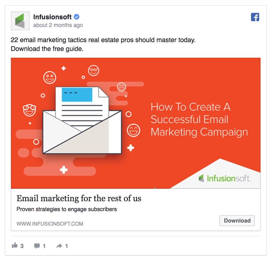 B2B Facebook ad